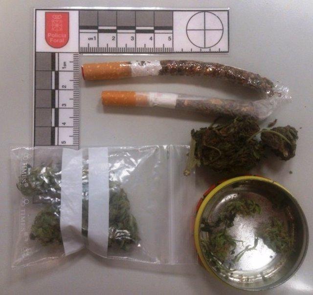 Marihuana incautada por la Policía Foral