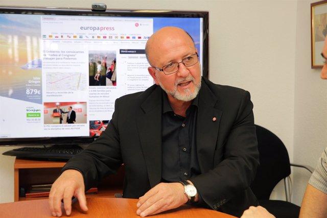 El secretario general de UGT, Luis Miguel López Reillo