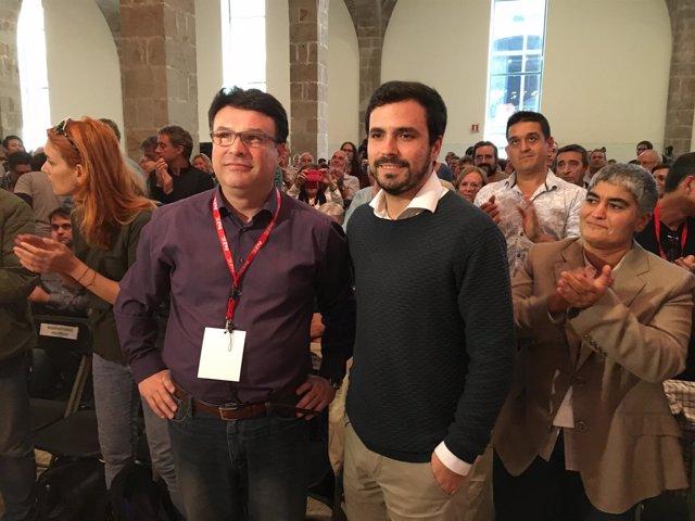 Joan Josep Nuet (EUiA) y Alberto Garzón (IU)