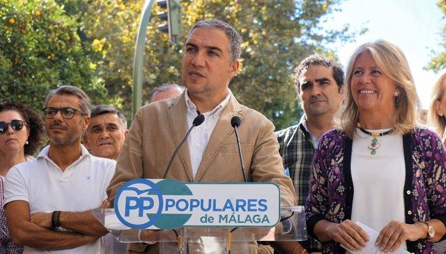 El portavoz del PP-A, Elías Bendodo, en Marbella