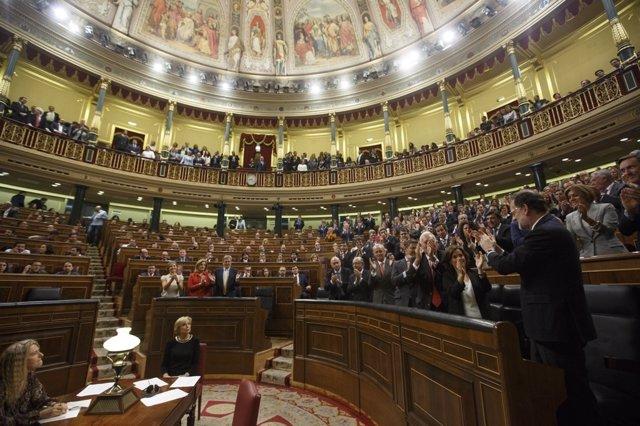 Mariano Rajoy tras ser investido presidente del Gobierno