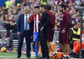 El Atlético confirma la lesión en el glúteo derecho de Nico Gaitán