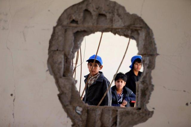 Consecuencias del ataque contra una escuela en Saná