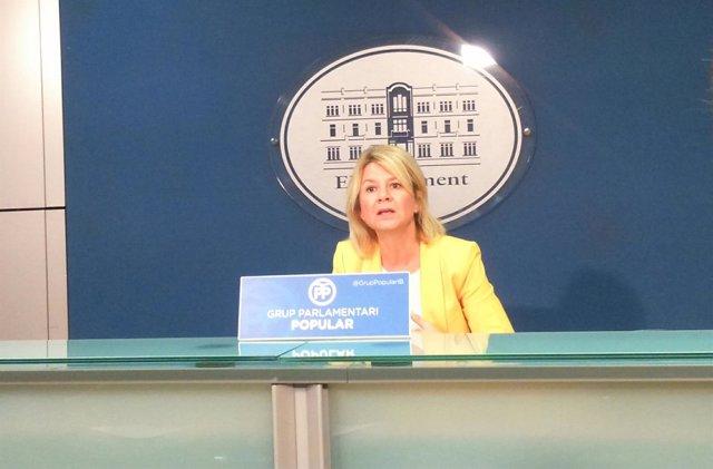 Núria Riera en rueda de prensa