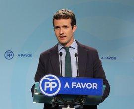 """Casado cree que Rajoy """"suele acertar"""" al elegir equipos y dice que no se ve de ministro"""