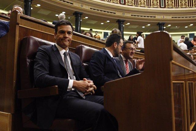 Pedro Sánchez en el debate de investidura en el Congreso