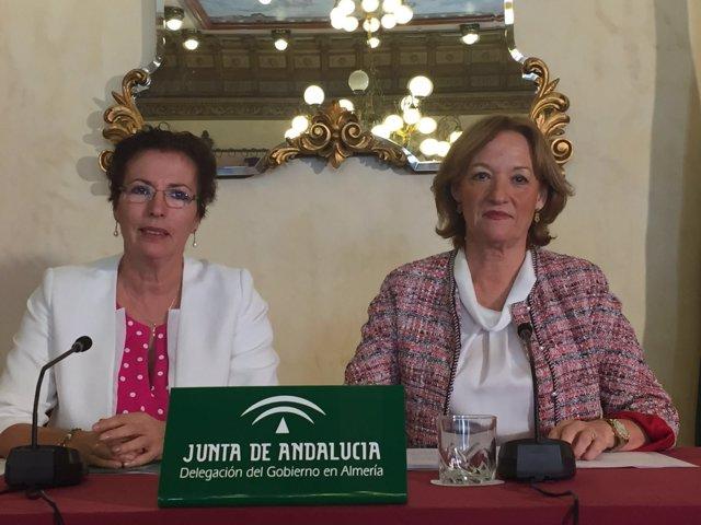 Gracia Fernández y Carmen Ortiz (derecha)