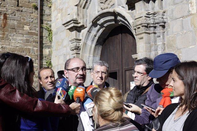 Lambán en el Monasterio de San Vitorián