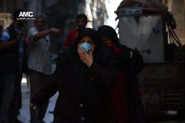 Supuesto ataque con gas de cloro del régimen  en Alepo