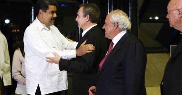 Nicolás Maduro y José Luis Rodríguez Zapatero