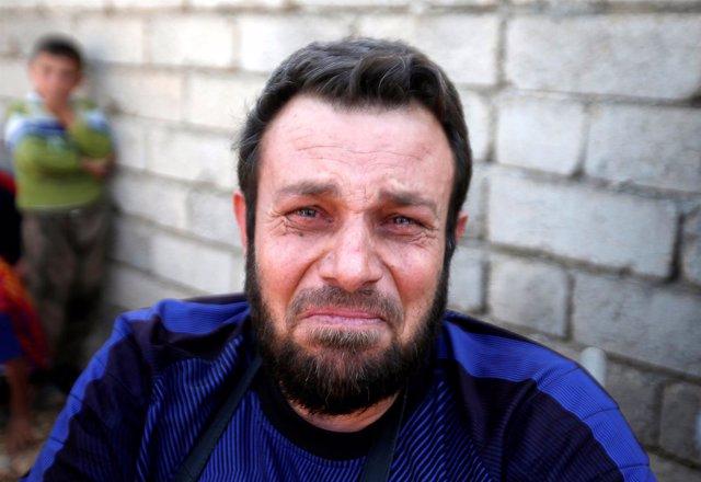 Abbas Alí, un hombre iraquí que huye de Mosul