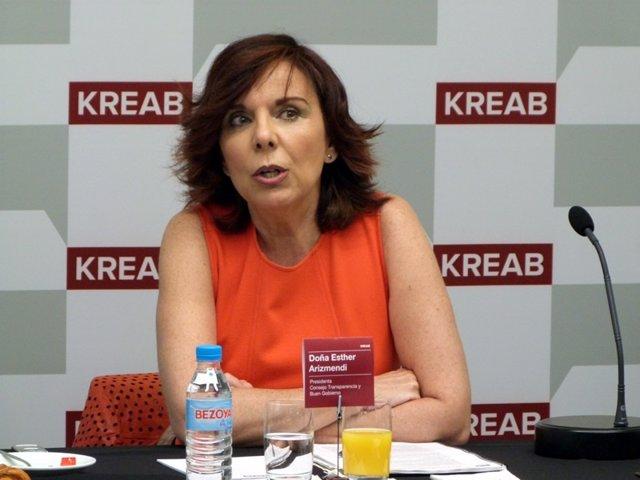 Esther Arizmendi, presidenta del Consejo de Transparencia