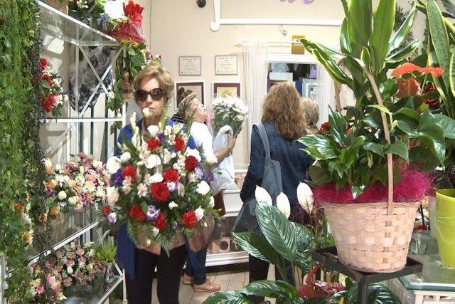Floristería en el Día de los Difuntos