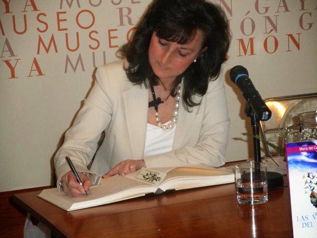 La escritora María del Carmen Aranda