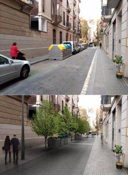 Calle del barrio de Gràcia
