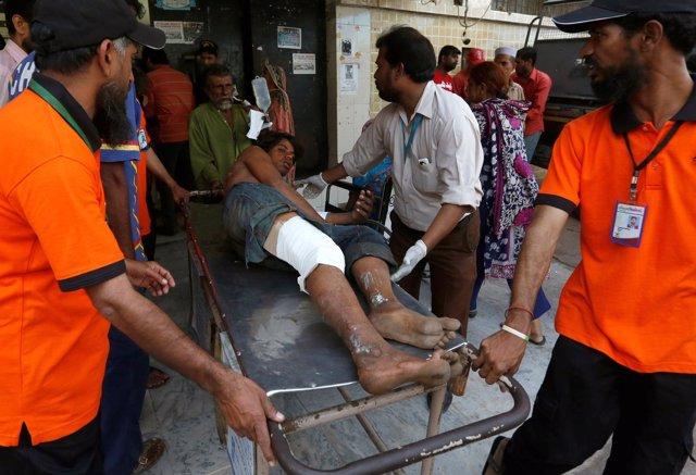 Accidente en un puerto cercano a Karachi