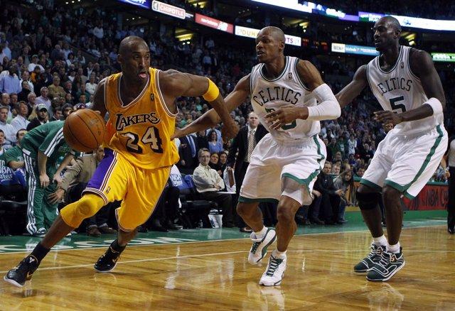 Kobe Bryant LA Lakers Boston Celtics