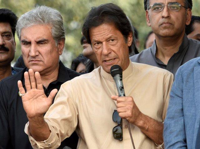 El líder opositor paquistaní Imran Jan