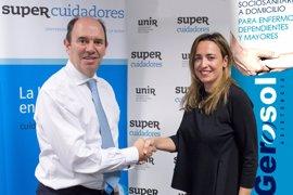 Acuerdo de colaboración entre SUPER Cuidadores de UNIR y Gerosol