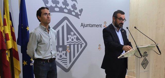 Los regidores Guillermo Sánchez y Pep Ignasi Aguiló