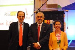 Tomás Melendo, Enrique Berrueta y María Solano