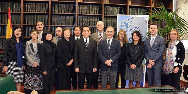 Visita de la delegación tailandesa al ISCIII