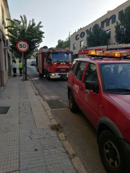 Incendio en Archena, bomberos