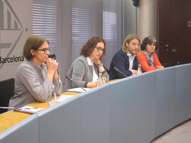 Montserrat Martí, Laura Pérez, David Escudé y Mercè Jofra