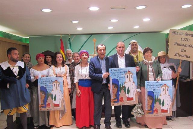 Delegado del gobierno Ruiz Espejo y alcalde de Alozaina presentan recreación