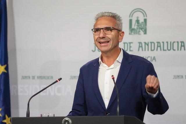 Miguel Ángel Vázquez, en rueda de prensa posterior al Consejo de Gobierno
