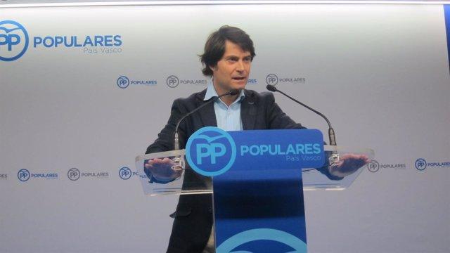 Javier Ruiz, secretario general del PP de Bizkaia