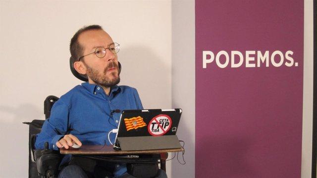 El secretario general de Podemos Aragón, Pablo Echenique