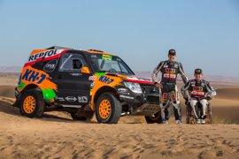 Esteve y su Mitsubishi adaptado superan un test en Marruecos de cara al Dakar