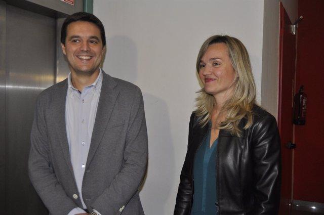 Pilar Alegría y Óscar Galeano (PSOE).