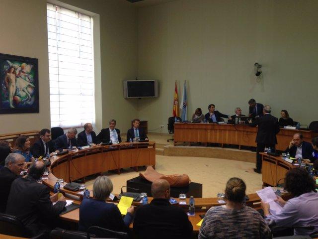 Constitución de comisiones en el Parlamento gallego.