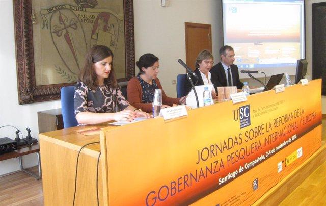 Rosa Quintana en la apertura de unas jornadas sobre gobernanza pesquera