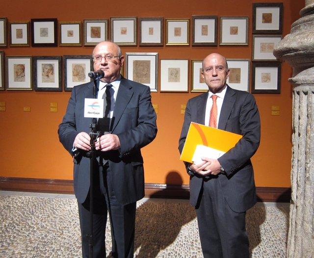 Honorio Romero y José Antonio Zarzalejos, hoy en Ibercaja Patio de la Infanta