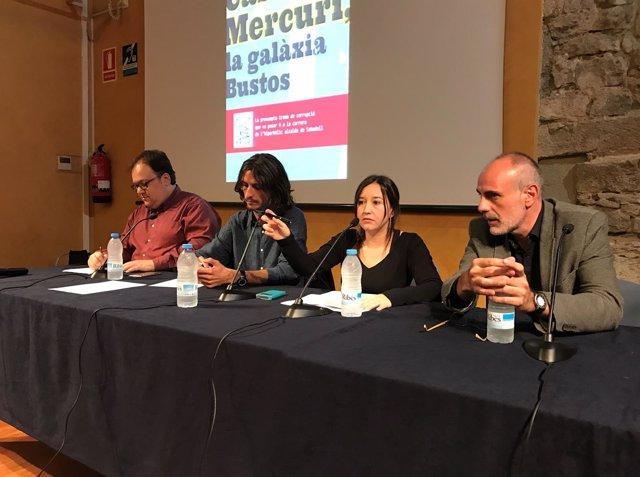 Ferran Casas, Roger Mateos, Sara González y Joan Ridao