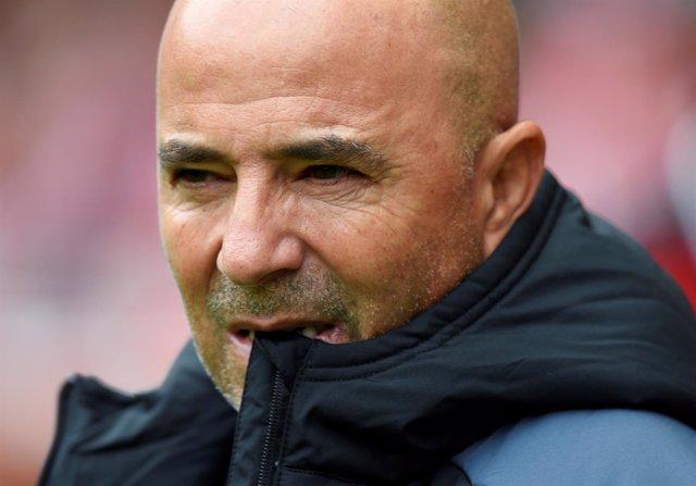 Jorge Sampaoli, entrenador del Sevilla FC