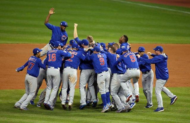 Los Cubs celebran su victoria
