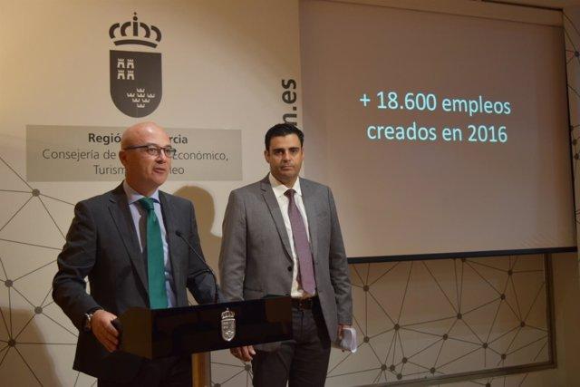 Juan Hernández y Alejandro Zamora, en la valoración de los datos del paro