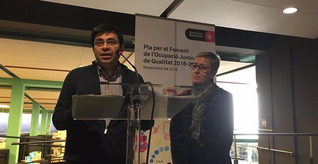 Gerardo Pisarello y Carmen Andrés presentan un plan de ocupación juvenil