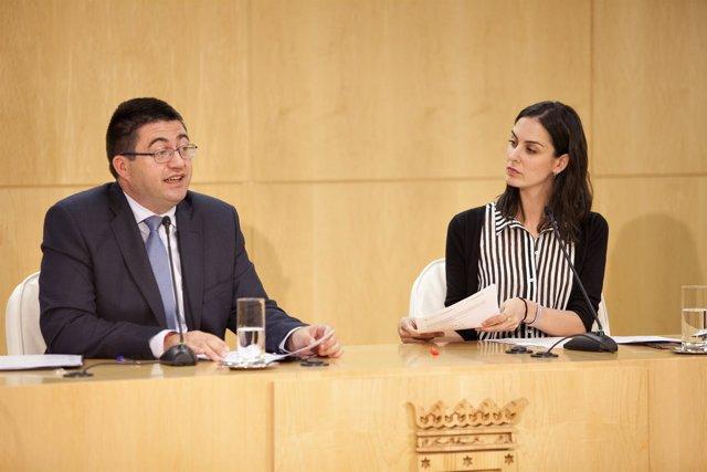 Carlos Sánchez Mato y Rita Maestre