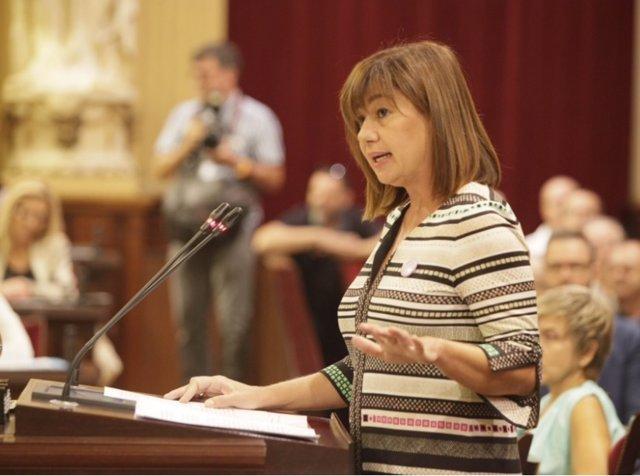 Armengol durante el Debate del estado de la Comunidad