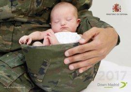 Las Fuerzas Armadas, en el calendario solidario de la Fundación Síndrome de Down de Madrid