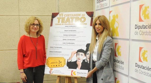 Ruz (izda.) y Romero presentan el Certamen de Teatro