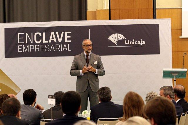 O'Kean durante su conferencia en un foro empresarial en Málaga