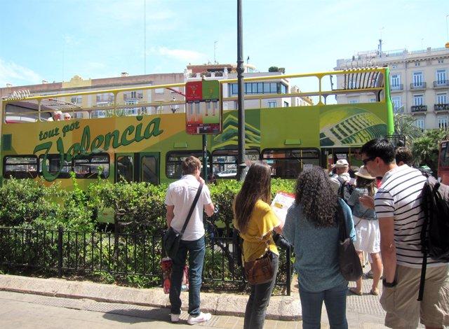 Turistas en Valencia