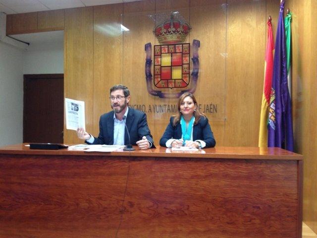 Contreras y Chamorro en la rueda de prensa.