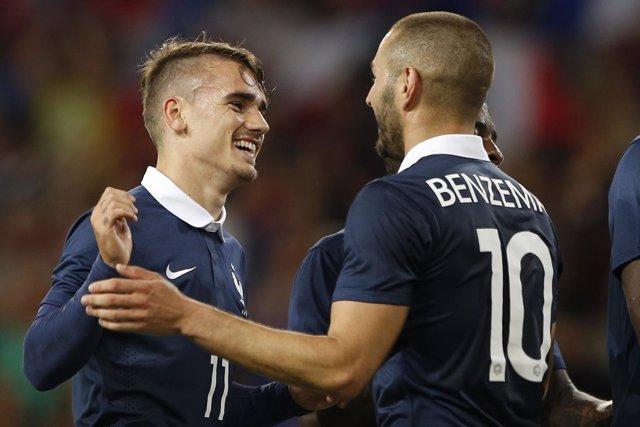 Antoine Griezmann y Karim Benzema